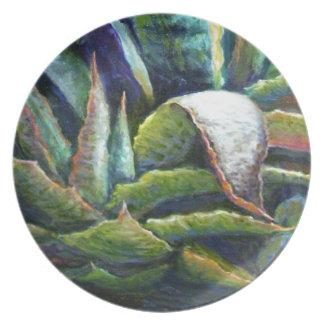 Sharles著アメリカの砂漠のリュウゼツランのサボテン プレート