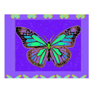 Sharles著ターコイズの(昆虫)オオカバマダラ、モナークの紫色のギフト ポストカード