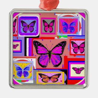 Sharles著紫色のマダラチョウの芸術 メタルオーナメント