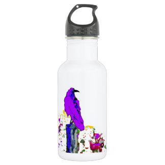 Sharles著紫色のワタリガラスのポップアート ウォーターボトル
