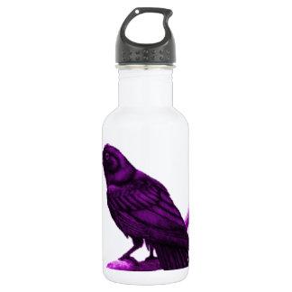 Sharles著紫色のワタリガラス 532ml ウォーターボトル