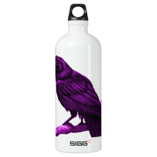 Sharles著紫色のワタリガラス SIGG トラベラー 1.0L ウォーターボトル