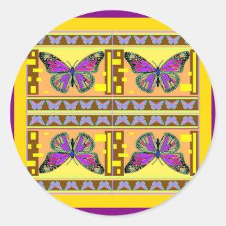 Sharles著紫色の西部のマダラチョウのギフト ラウンドシール