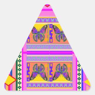 Sharles著西部のマダラチョウのデザインのギフト 三角形シール