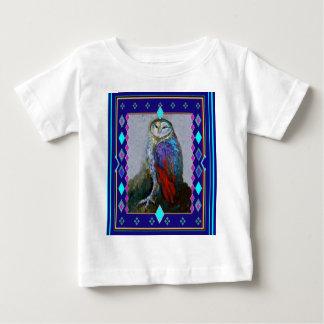 Sharles著西部のメンフクロウの芸術 ベビーTシャツ