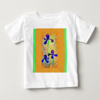 Sharles著青いアイリス及びディジョンのマスタードの枕 ベビーTシャツ