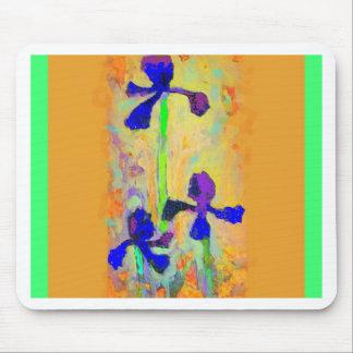Sharles著青いアイリス及びディジョンのマスタードの枕 マウスパッド