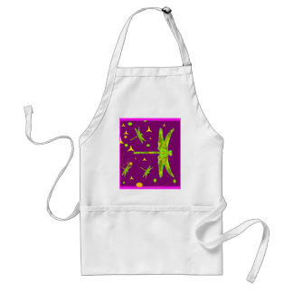 Sharles著Chartrueseのトンボの   紫色のファンタジー スタンダードエプロン