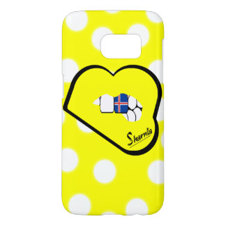 Sharniaの唇のアイスランドの携帯電話の箱(Ylの唇) Samsung Galaxy S7 ケース