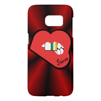 Sharniaの唇のアイルランドの携帯電話の箱(Rdの唇) Samsung Galaxy S7 ケース