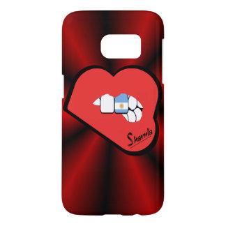 Sharniaの唇のアルゼンチンの携帯電話の箱Rdの唇 Samsung Galaxy S7 ケース