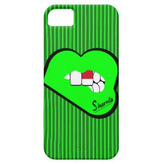 Sharniaの唇のインドネシアの携帯電話の箱Grの唇 iPhone SE/5/5s ケース