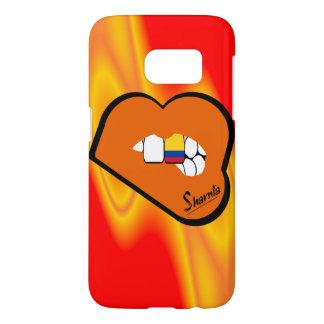 Sharniaの唇のコロンビアの携帯電話の箱か唇 Samsung Galaxy S7 ケース