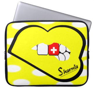Sharniaの唇のスイス連邦共和国のラップトップスリーブの叫び声の唇 ラップトップスリーブ