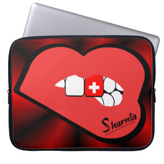 Sharniaの唇のスイス連邦共和国のラップトップスリーブの赤の唇 ラップトップスリーブ