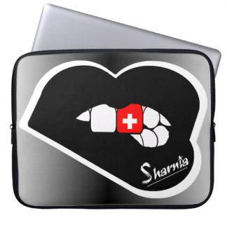 "Sharniaの唇のスイス連邦共和国のラップトップスリーブ15"" BL ラップトップスリーブ"