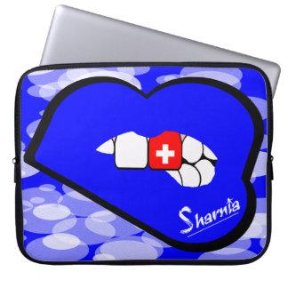 """Sharniaの唇のスイス連邦共和国のラップトップスリーブ15"""" BlLi ラップトップスリーブ"""
