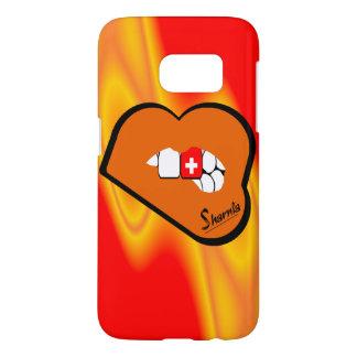 Sharniaの唇のスイス連邦共和国の携帯電話の箱かLP Samsung Galaxy S7 ケース