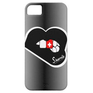 Sharniaの唇のスイス連邦共和国の携帯電話の箱Blk L iPhone SE/5/5s ケース