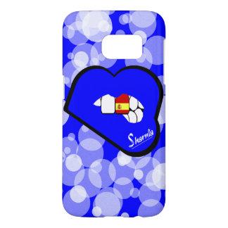 Sharniaの唇のスペインの携帯電話の箱青いLP Samsung Galaxy S7 ケース