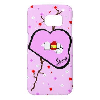 Sharniaの唇のスペインの携帯電話の箱LP LP Samsung Galaxy S7 ケース