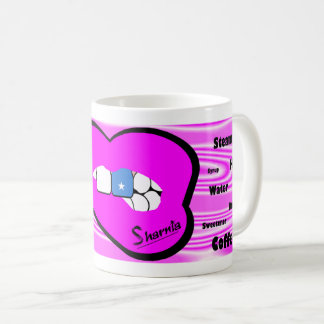 Sharniaの唇のソマリアのマグ(ピンクの唇) コーヒーマグカップ