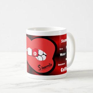 Sharniaの唇のチュニジアのマグ(赤い唇) コーヒーマグカップ