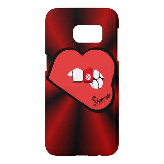 Sharniaの唇のチュニジアの携帯電話の箱Rdの唇 Samsung Galaxy S7 ケース