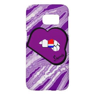 Sharniaの唇のネザーランド携帯電話の箱Pu L Samsung Galaxy S7 ケース
