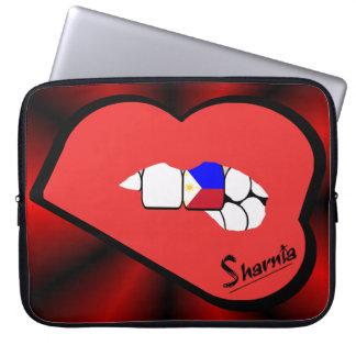 Sharniaの唇のフィリピンのラップトップスリーブの赤の唇 ラップトップスリーブ