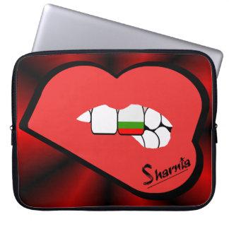 Sharniaの唇のブルガリアのラップトップスリーブ(赤い唇) ラップトップスリーブ