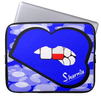 """Sharniaの唇のポーランドのラップトップスリーブ15""""青い唇 ラップトップスリーブ"""
