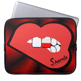 Sharniaの唇のポーランドのラップトップスリーブ(赤い唇) ラップトップスリーブ