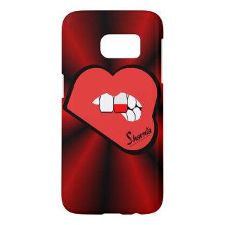Sharniaの唇のポーランドの携帯電話の箱(Rdの唇) Samsung Galaxy S7 ケース