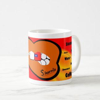 Sharniaの唇の台湾のマグ(オレンジ唇) コーヒーマグカップ