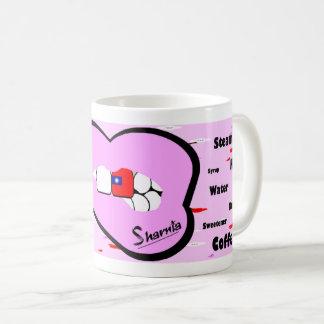 Sharniaの唇の台湾のマグ(PINK LTの唇) コーヒーマグカップ