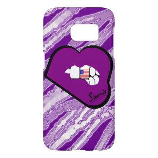 Sharniaの唇米国の携帯電話の箱(Puの唇) Samsung Galaxy S7 ケース