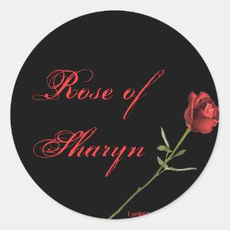 sharynのバラ 丸形シール・ステッカー