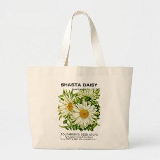 Shastaデイジーのヴィンテージの種の包み ラージトートバッグ