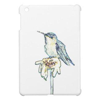 Shastaデイジーの青いハチドリ iPad Miniカバー