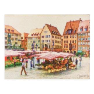 Shawna Mac著ドイツのニュルンベルクの市場 ポストカード