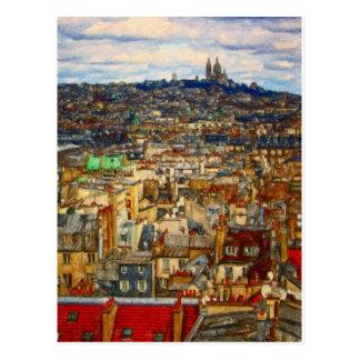 Shawna Mac著パリの屋上 ポストカード