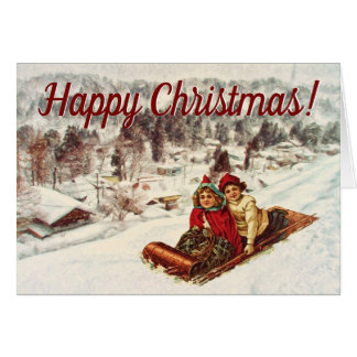 Shawna Mac著ヴィンテージのSnowyのビクトリアンなクリスマス カード