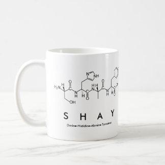 Shayのペプチッド名前のマグ コーヒーマグカップ