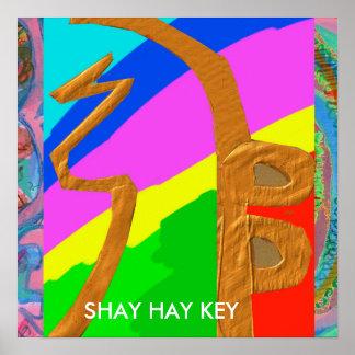 SHAYHAYKEY Gold  - basic Reiki Symbol ポスター