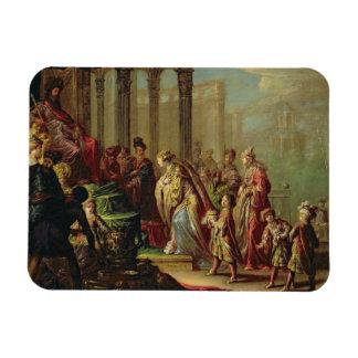 ShebaのSolomonおよび女王、またはAの前のエスター マグネット