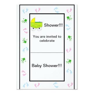 Sheekのベビーシャワーの単に招待 カード