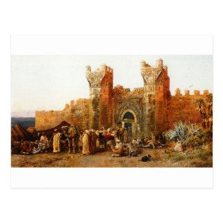 Shehal、エドウィンの主Weeksによるモロッコのゲート ポストカード