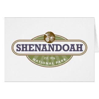 Shenandoahの国立公園 カード