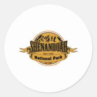 Shenandoahの国立公園、ヴァージニア ラウンドシール